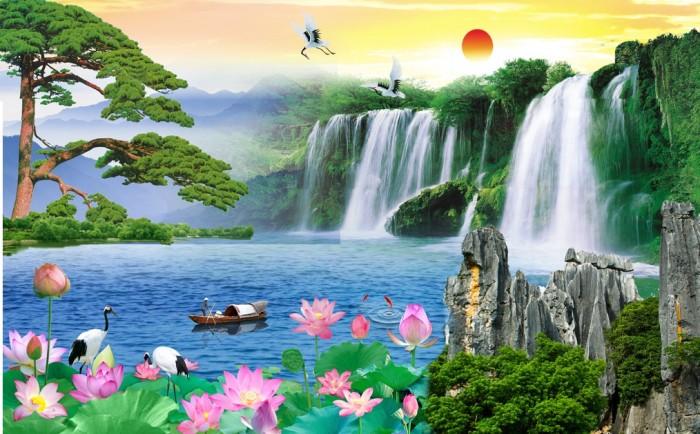 Tranh Gạch 3D Phong Cảnh Thu983