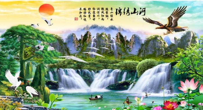 Tranh Gạch 3D Phong Cảnh Thu985