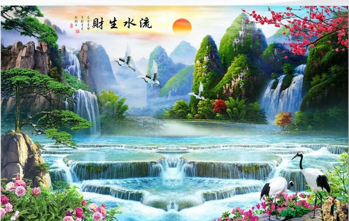 Tranh Gạch 3D Phong Cảnh Thu982
