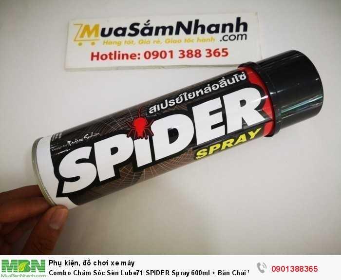 Combo Chăm Sóc Sên Lube71 SPIDER Spray 600ml + Bàn Chải Vệ Sinh Sên - CBspider 0