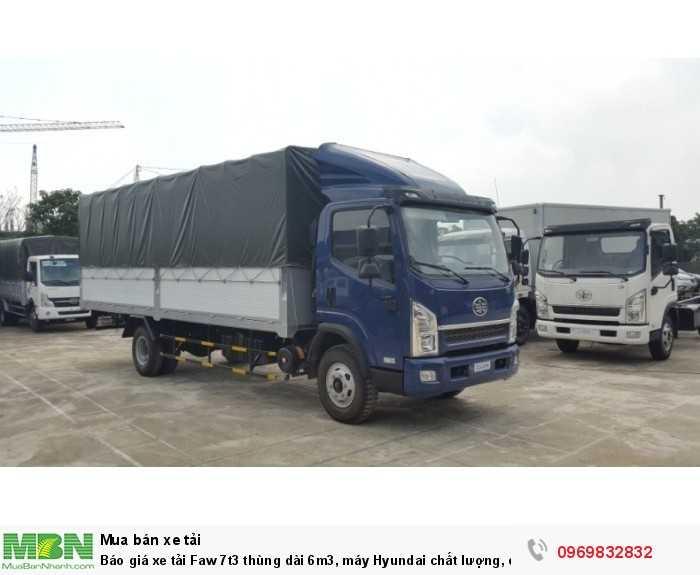 Báo giá xe tải Faw 7t3 thùng dài 6m3, máy Hyundai chất lượng, có sẵn giao ngay 2