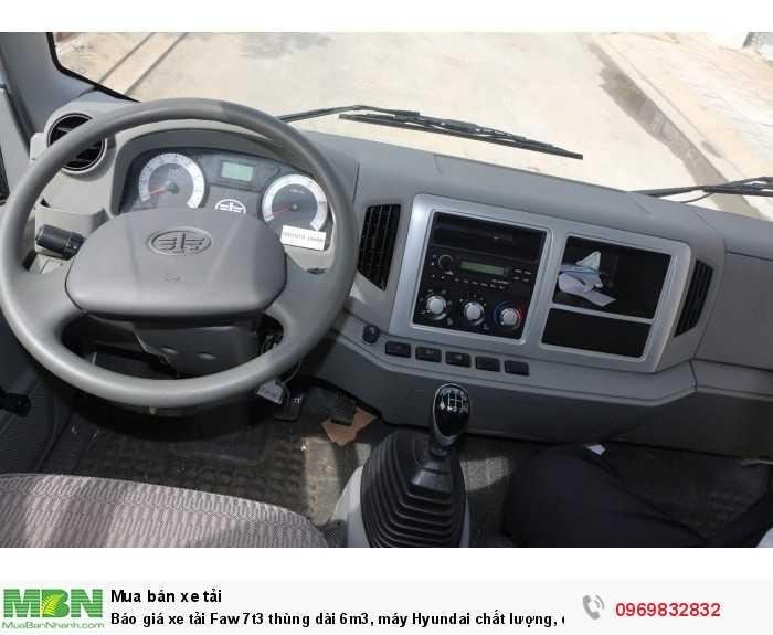 Báo giá xe tải Faw 7t3 thùng dài 6m3, máy Hyundai chất lượng, có sẵn giao ngay 4