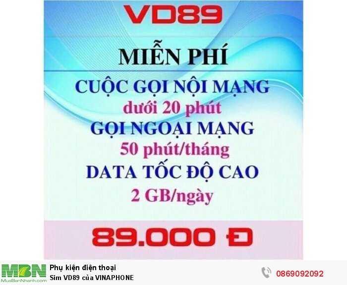 Sim VD89 của VINAPHONE0