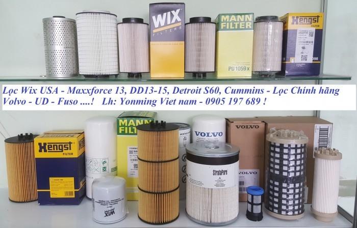 Lọc Wix USA cho động cơ Maxxforce. Lọc Man + Heng cho các dòng xe châu Âu.