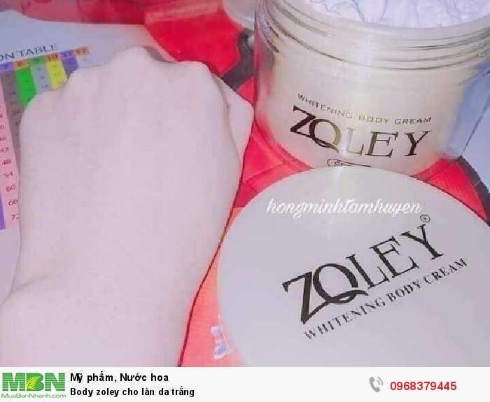 Body zoley cho làn da trắng