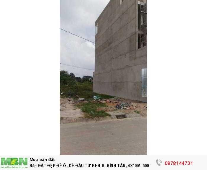 Bán Đất Đẹp Để Ở, Để Đầu Tư Bhh B, Bình Tân, 4x10m