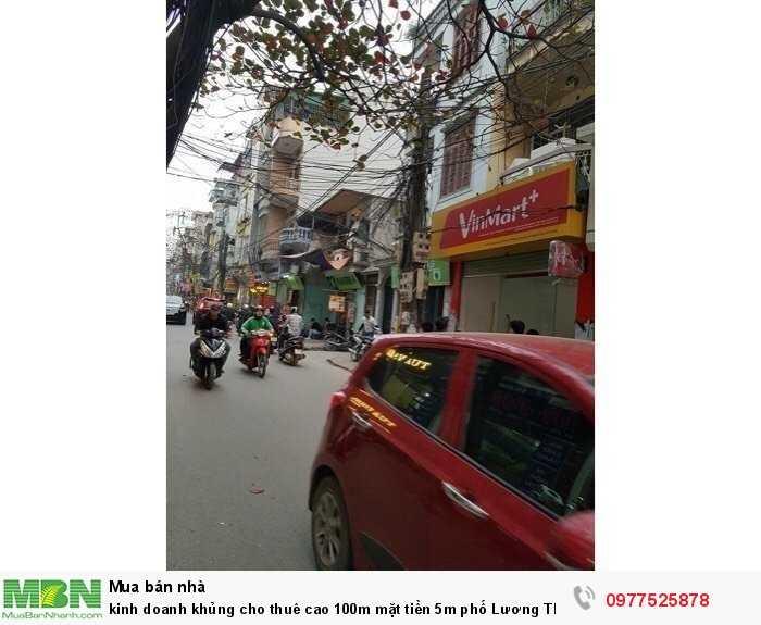 Cho thuê cao 100m mặt tiền 5m phố Lương Thế Vinh