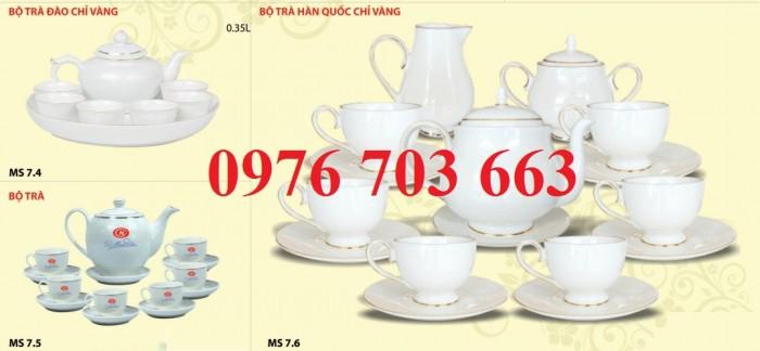 Alpha chuyên cung cấp bộ ấm trà sứ in logo giá rẻ0