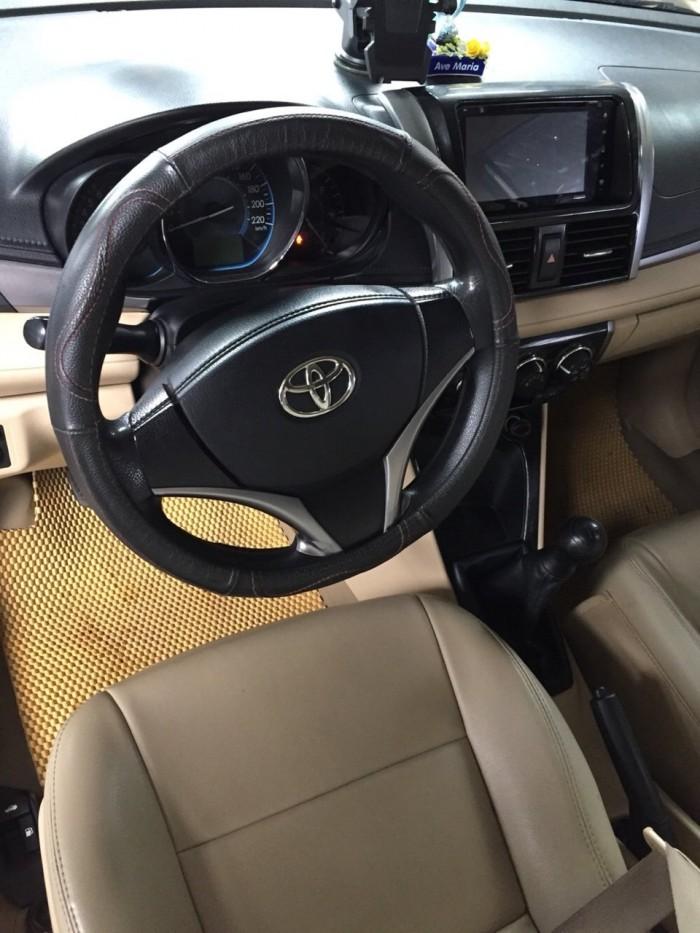 Bán Toyota VIOS E 1.5MT màu vàng cát số sàn sản xuất 2016 gốc Sài Gòn 1