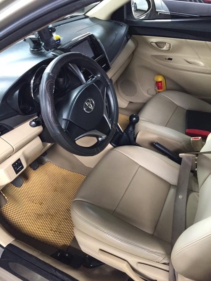 Bán Toyota VIOS E 1.5MT màu vàng cát số sàn sản xuất 2016 gốc Sài Gòn 0