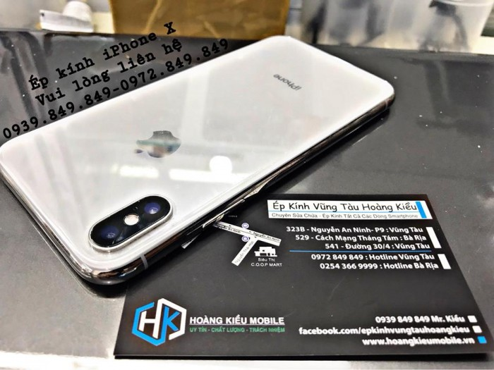 Ép Kính Iphone X - Uy Tín Số 1 Vũng Tàu
