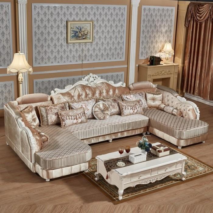 sofa gỗ cổ điển chữ U0