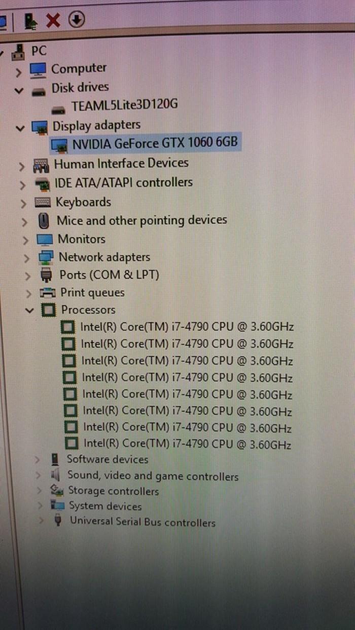 Thùng PC: Mainboard B85M-Gamer, i7-4790, 8GB, SSD 120, GTX1060 6GB2