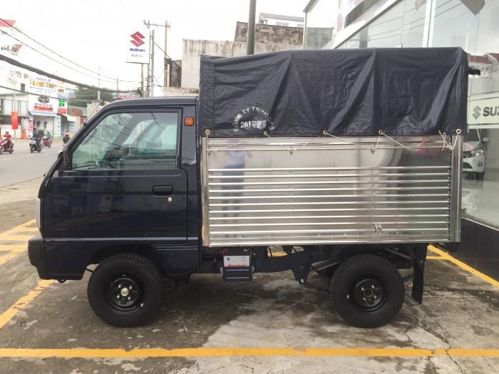 Xe Suzuki thùng mui bạt dài, tặng 50% chi phí đăng kí xe và quà tặng