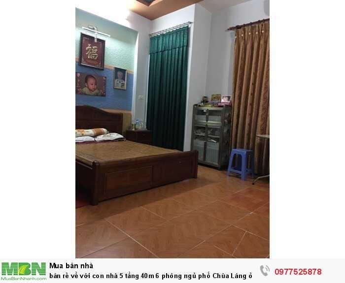 Bán rẻ về với con nhà 5 tầng 40m 6 phòng ngủ phố Chùa Láng ở và cho thuê thu nhập đều