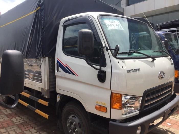 Gía xe Hyundai 6,5T - thùng mui bạt. 5