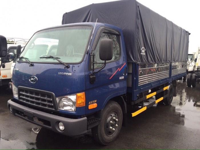 Gía xe Hyundai 6,5T - thùng mui bạt.