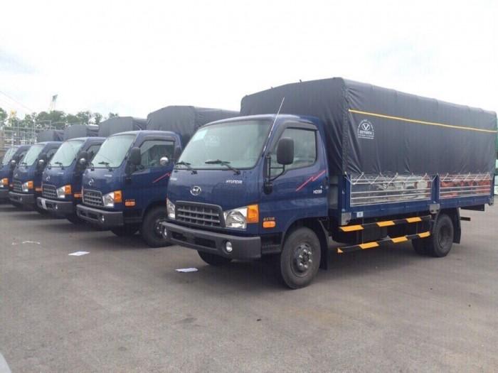 Gía xe Hyundai 6,5T - thùng mui bạt. 4