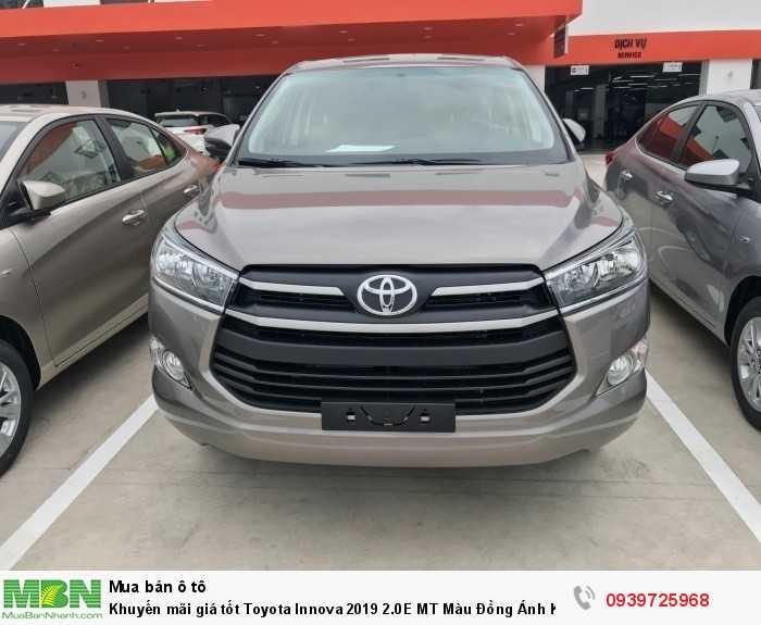 Khuyến Mãi Toyota Innova 2018 Số Sàn,màu đồng ánh kim. Nhận Ngay Xe Chỉ 180Tr, Vay 8 Năm