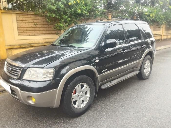 Bán chiếc xe Ford Escape 2008 màu đen.tự động 4 cấp 1