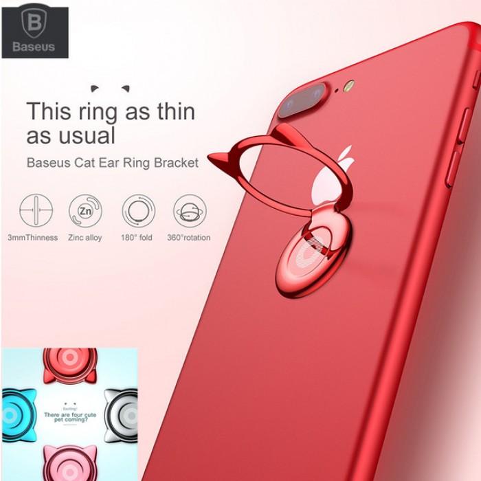 Giá đỡ hít điện thoại iring cao cấp - cute cat ear ring0