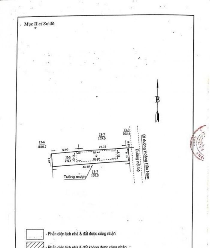 Nhà cấp 4 và 3 phòng trọ phía sau, 219m2, giá 28tr/m2 Phường Tân Phú