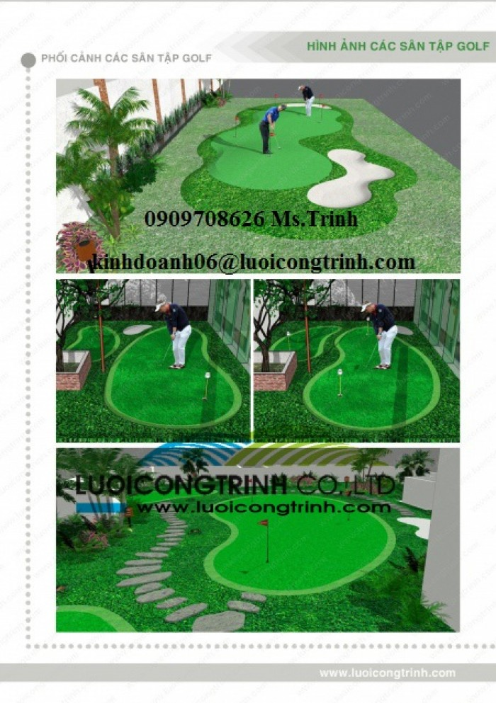 Thiết kế, thi công sân Golf chất lượng, uy tín, giá rẻ0