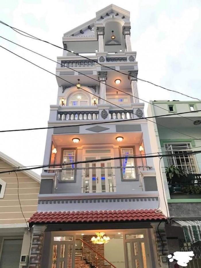 Bán nhà 2279 Huỳnh Tấn Phát Kp7, Thị Trấn Nhà Bè, đường nội bộ rộng 6m, KDC đông đúc