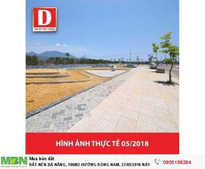 Đất Nền Đà Nẵng, 100m2 Hướng Đông Nam, 23/09/2018 Này Mở Bán