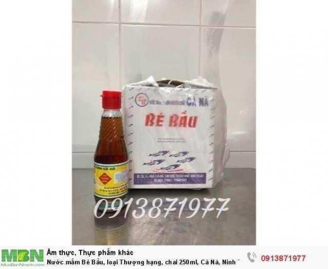 Nước mắm Bé Bầu, loại Thượng hạng, chai 250ml, Cá Ná, Ninh Thuận0