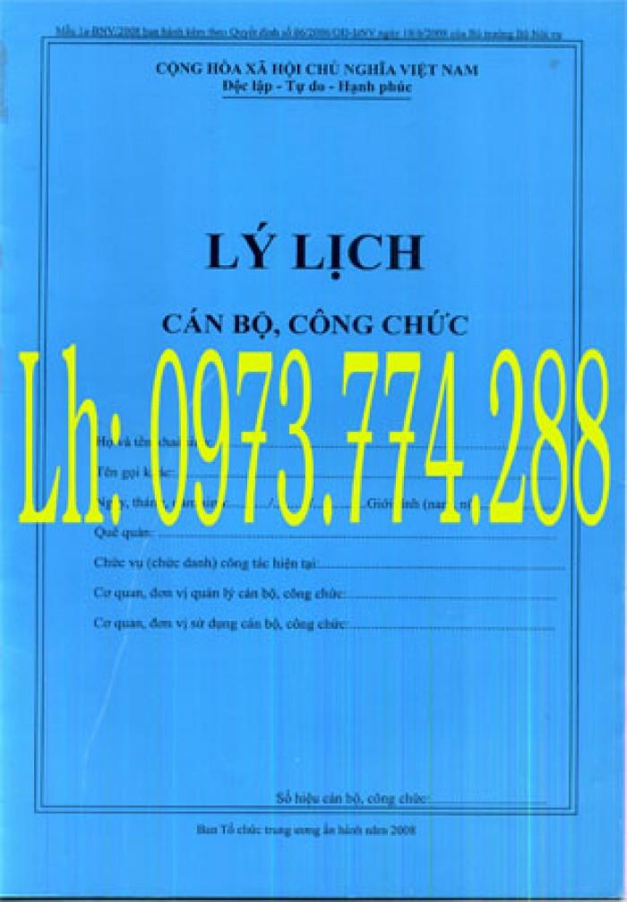 bán quyển lý lịch cán bộ công chức mẫu 1a-BNV/2008 ban hành kèm theo quyết định số 06/2008/QĐ-BNV ngày 18/6/2008 của bộ trưởng bộ nội vụ