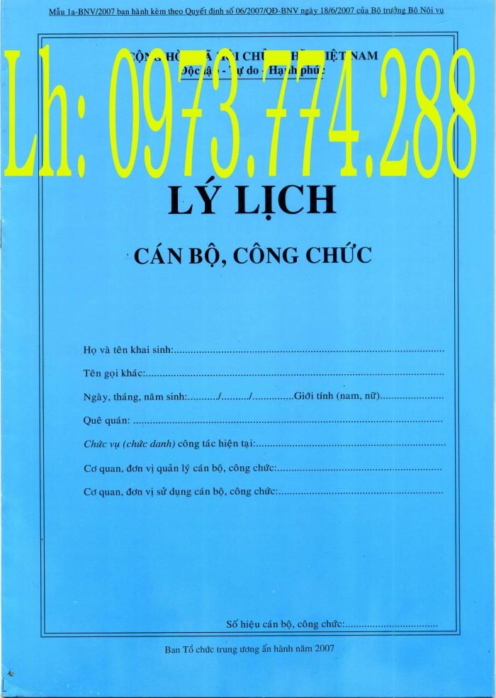bán bộ 3 bìa kẹp hồ sơ cán bộ viên chức