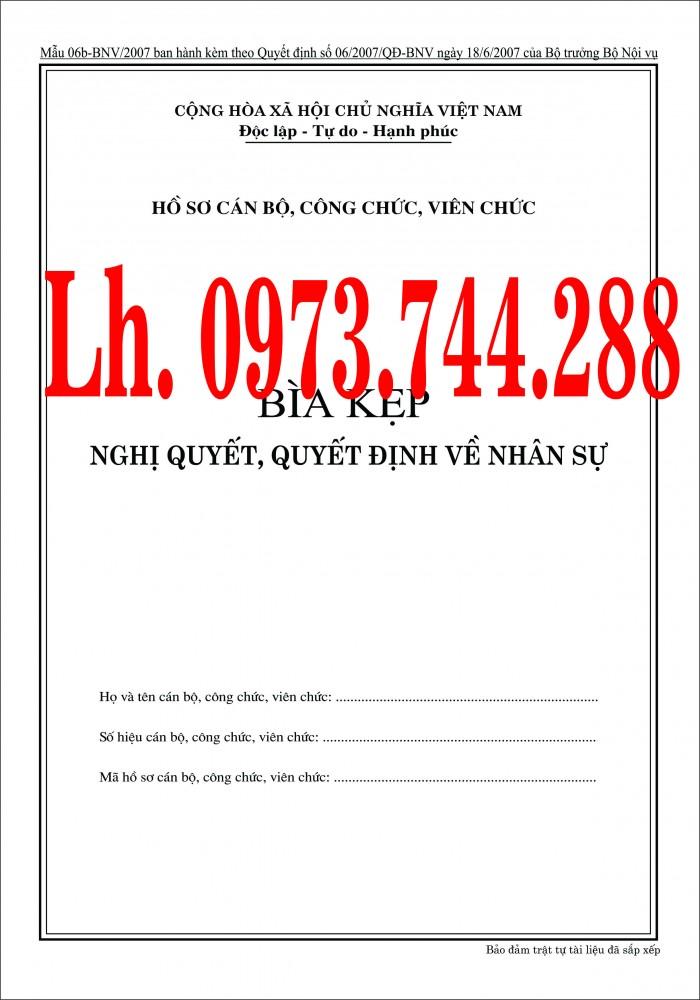 Bán nguyên bộ 3 bìa kẹp tài liệu hồ sơ cán bộ công chức viên chức30
