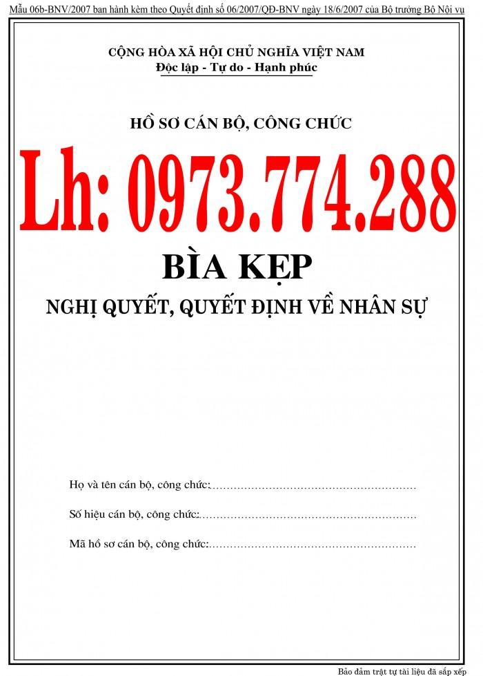 Bán nguyên bộ 3 bìa kẹp tài liệu hồ sơ cán bộ công chức viên chức26