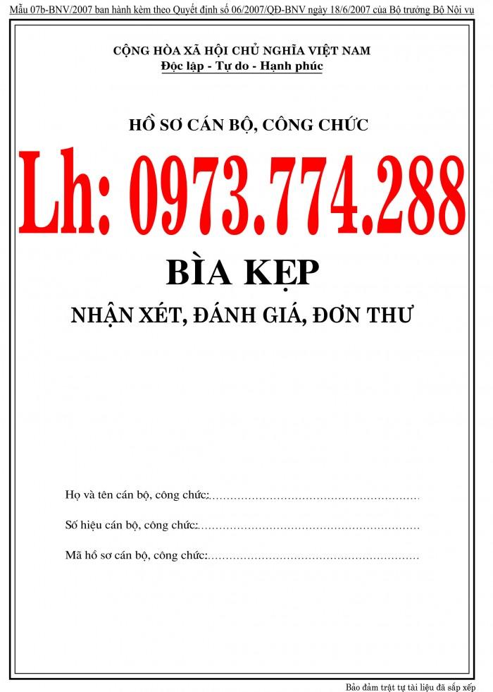 Bán nguyên bộ 3 bìa kẹp tài liệu hồ sơ cán bộ công chức viên chức25