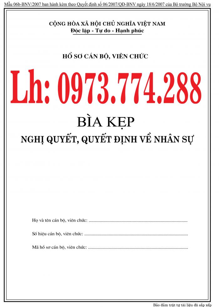 Bán nguyên bộ 3 bìa kẹp tài liệu hồ sơ cán bộ công chức viên chức22