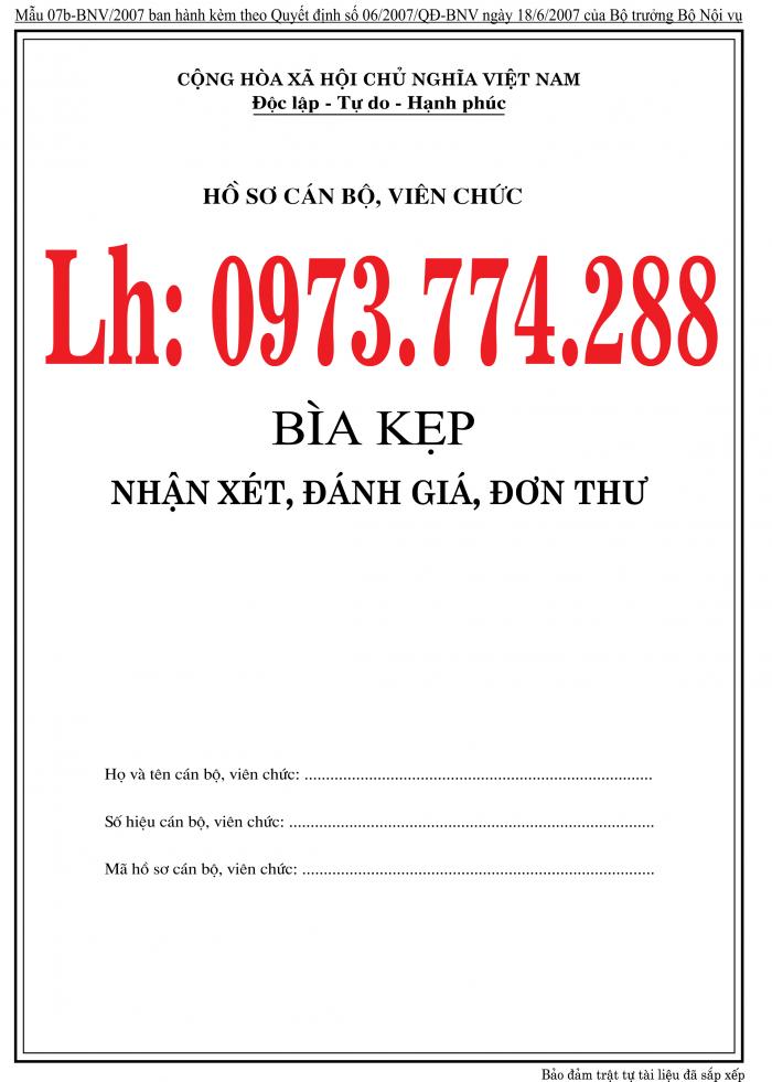 Bán nguyên bộ 3 bìa kẹp tài liệu hồ sơ cán bộ công chức viên chức21