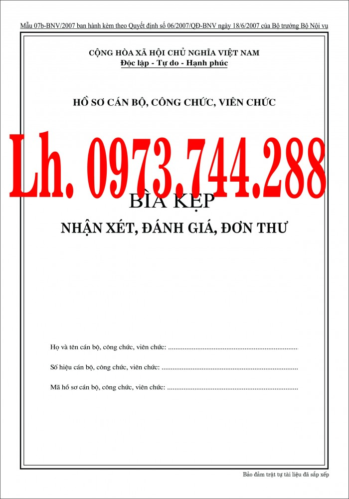 Bán nguyên bộ 3 bìa kẹp tài liệu hồ sơ cán bộ công chức viên chức17