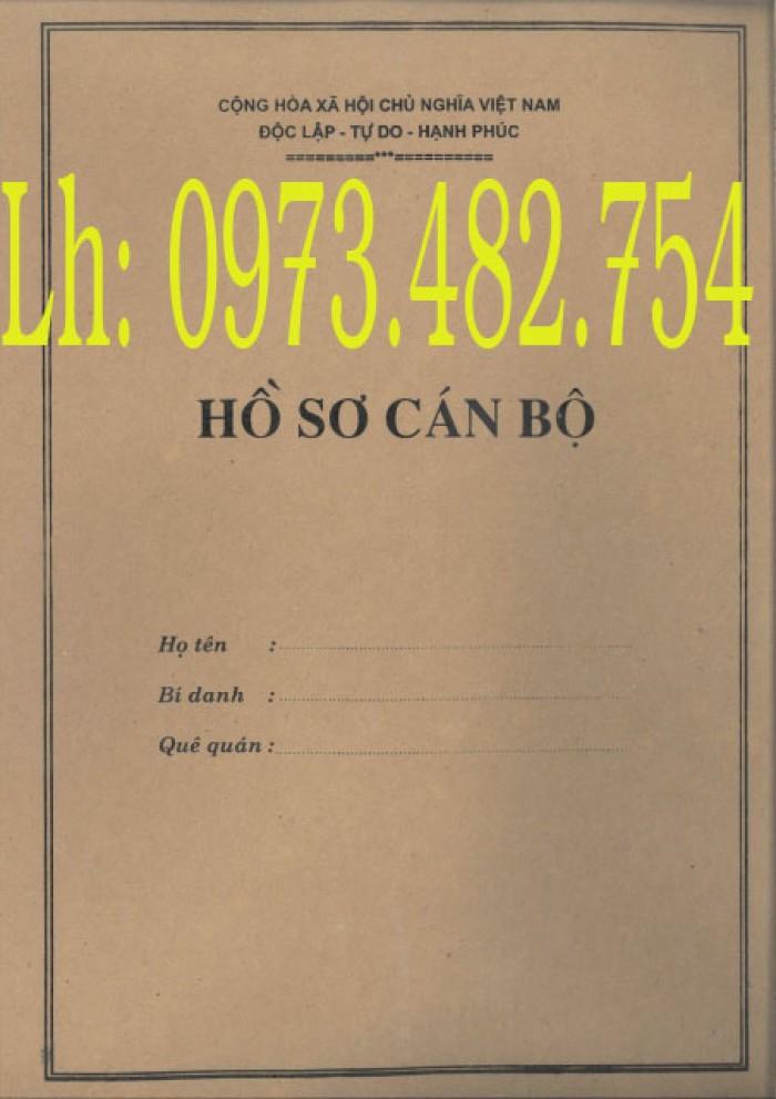 Bán vỏ - túi - bìa - bì đựng bộ hồ sơ sơ cán bộ viên chức