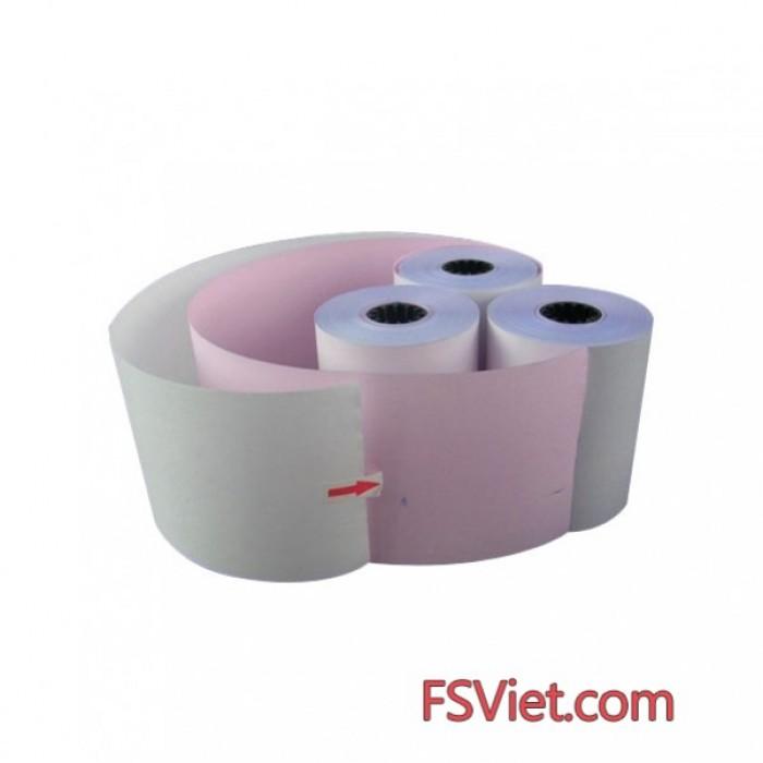 Giấy in hóa đơn K75, 2 liên, 30m - Thùng 100 cuộn0