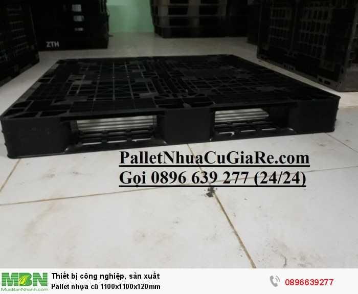Pallet nhựa cũ 1100x1100x120mm - GỌI 0896639277 (24/24)0