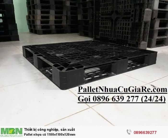 Pallet nhựa cũ thanh lý 1100x1100x120mm - GỌI 0896639277 (24/24)2