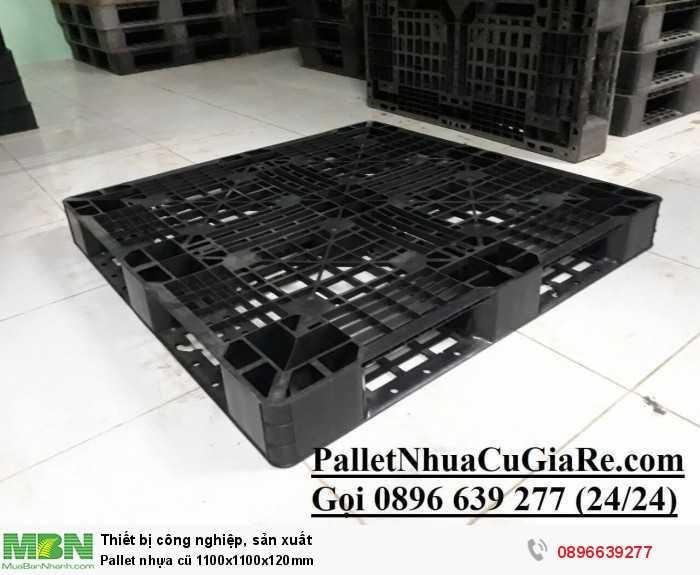 Pallet nhựa cũ 1100x1100x120mm - GỌI 0896639277 (24/24)4