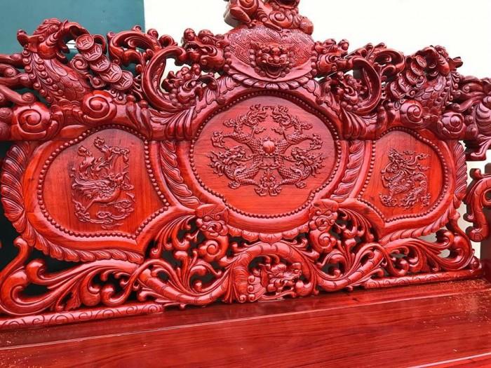 Bộ bàn ghế trạm nghê đỉnh tay khuỳnh gỗ hương đỏ nam phi4