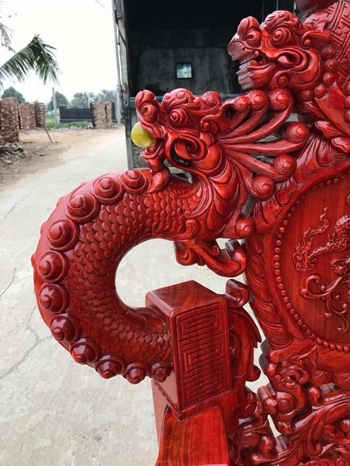 Bộ bàn ghế trạm nghê đỉnh tay khuỳnh gỗ hương đỏ nam phi8