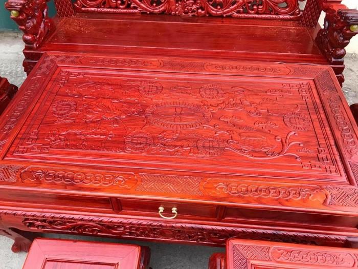 Bộ bàn ghế trạm nghê đỉnh tay khuỳnh gỗ hương đỏ nam phi11