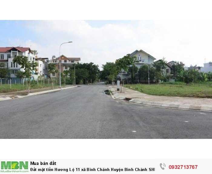 Đất mặt tiền Hương Lộ 11 xã Bình Chánh Huyện Bình Chánh SHR 90m2