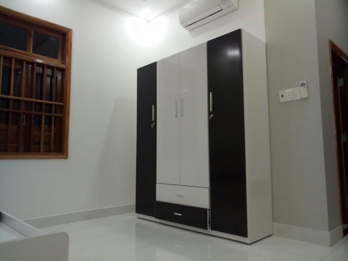 Nhà mới 1 trệt + 2 lầu, 1/ đường 12 Quang Trung TNPB, sàn 180 m2