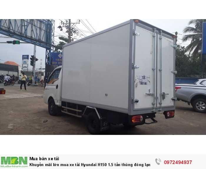 Mua xe tải trả góp Hyundai H150 1.5 tấn thùng đông lạnh - GỌI 0972494937 (24/24)
