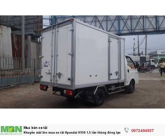 Trả góp mua xe tải Hyundai H150 1.5 tấn thùng đông lạnh - GỌI 0972494937 (24/24)